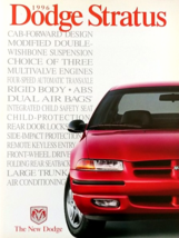 1996 Dodge STRATUS sales brochure catalog US 96 ES - $6.00
