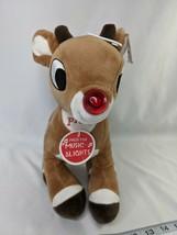 "Rudolph the Red Nosed Reindeer Plush 11"" Lights Musical 2018 Rashti Stuffed Toy - $10.95"