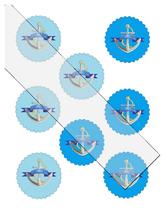 Scallop Circles Anchor28-Download-ClipArt-ArtClip-Digital Tags-Digital - $3.99