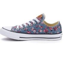 Adult Converse Chuck Taylor All Star Denim Floral Shoe ssz 12 womens 10 mens new - $46.51