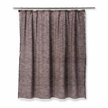 "Threshold Gray Grety Woven Fringe Cotton Shower Curtain 72"" x 72 - $21.77"