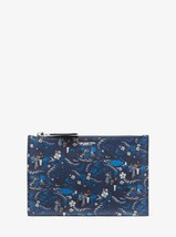 Michael Kors Collection Bancroft Tropical Welcome Print Leather Pouch NW... - $233.75