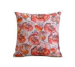 PANDA SUPERSTORE Creative Retro Red Flower Pattern Home Furnishing Pillow/Cushio