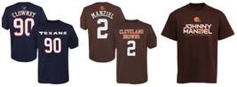 NFL Boy's 8-18 Player Tee Shirt T-Shirt Texans Clowney Browns Manziel NEW