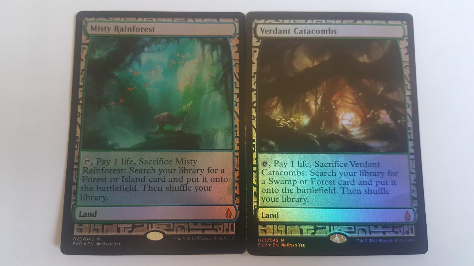Mtg Magic PROXY FOIL 10X Fetch Land Zendikar Expeditions 10 Cards Commander FOI image 3