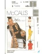 McCall's #8844 Daphne Maxwell Reid Pattern Misses' Vest Tunic Pants Skir... - $9.47