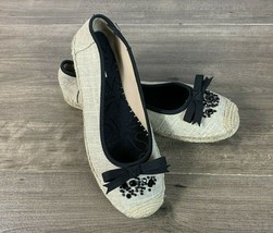 Simply Vera Womens Flats Size 9 M Espadrille Ballet Bow by Vera Wang - $20.15