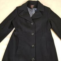 Anne Klein Black Wool Cashmere Blend Long Coat Womens Size 12 - $59.39