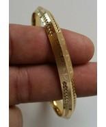 NEW Gold Plated Laser Engraved Khandas Sikh Singh Khalsa Kara Bangle Kad... - $12.74
