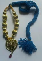 panyabí Folk Cultural Bhangra Gidha Kaintha Colgante Turquesa ribete col... - $15.54