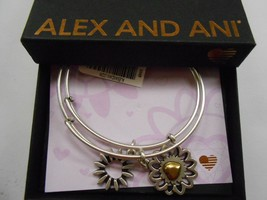 Alex and Ani You Are My Heart, Two Tone, Set of 2 Bangle Bracelet NWTBC - $42.56