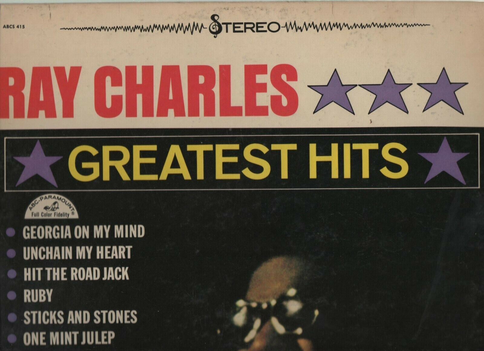 Ray Charles Greatest Hits - ABCS 415 - ABC Paramount - 1961