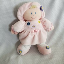 Kids Preferred Pink Plush KIRA Baby Doll Toy w Embroidered Flowers Hat E... - $11.87