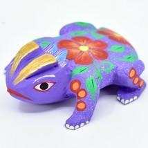 Handmade Alebrijes Oaxacan Copal Wood Carving Folk Art Horned Toad Figurine image 2