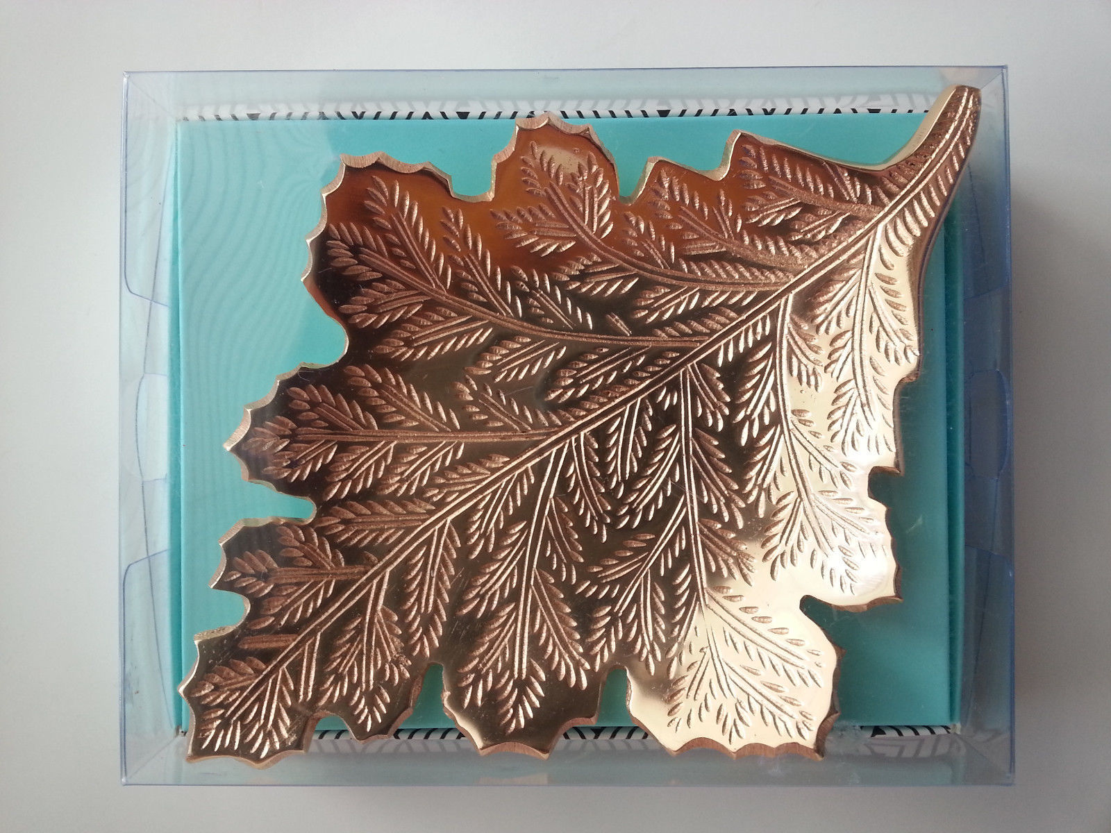 Primary image for Metal Leaf Gold Fall Plate Dish Autumn North Woods Cabin Modern Expressions