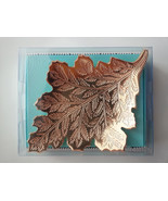 Metal Leaf Gold Fall Plate Dish Autumn North Woods Cabin Modern Expressions - €8,96 EUR