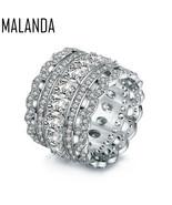 Brand Fashion Crystal Swarovski Zircon Rings Women Luxury Female Wedding... - $23.58