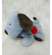 "8"" Carters Puppy Dog Baby Lovey Blue w Red Spot Soft Floppy Plush Toy B350 - $44.99"