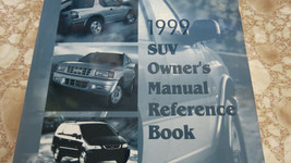 1999 ISUZU SUV OWNER'S MANUAL REFERENCE BOOK USED OEM FACTORY - $24.53
