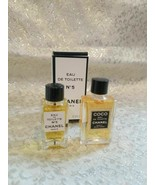 Stocking Stuffers Vintage COCO and 5 CHANEL EDT Miniature Perfume .13 oz... - $59.99