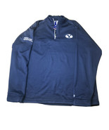 Champion Brigham Young BYU Cougars 1/2 Zip Pullover Jacket Blue Lrg Embroidered - $24.74