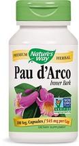 Nature's Way Pau D'Arco Inner Bark Capsules, 545mg, 100-Count