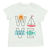 First Impressions New Infant Boys Wave Print White Cotton T Shirt Tee 24 M - $8.90