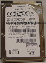 "Hitachi HTS541080G9AT00 80GB 2.5"" IDE 5400 RPM Hard Drive Used Tested - $19.55"