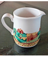 Corelle Coordinates Large Stoneware Pitcher Creamer Gravy House Farm Design - $19.00
