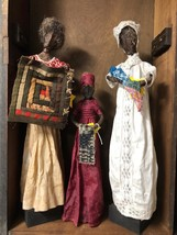 Set/3 Primitive  Black Art Dolls African American Handmade Handcrafted.1... - $391.05