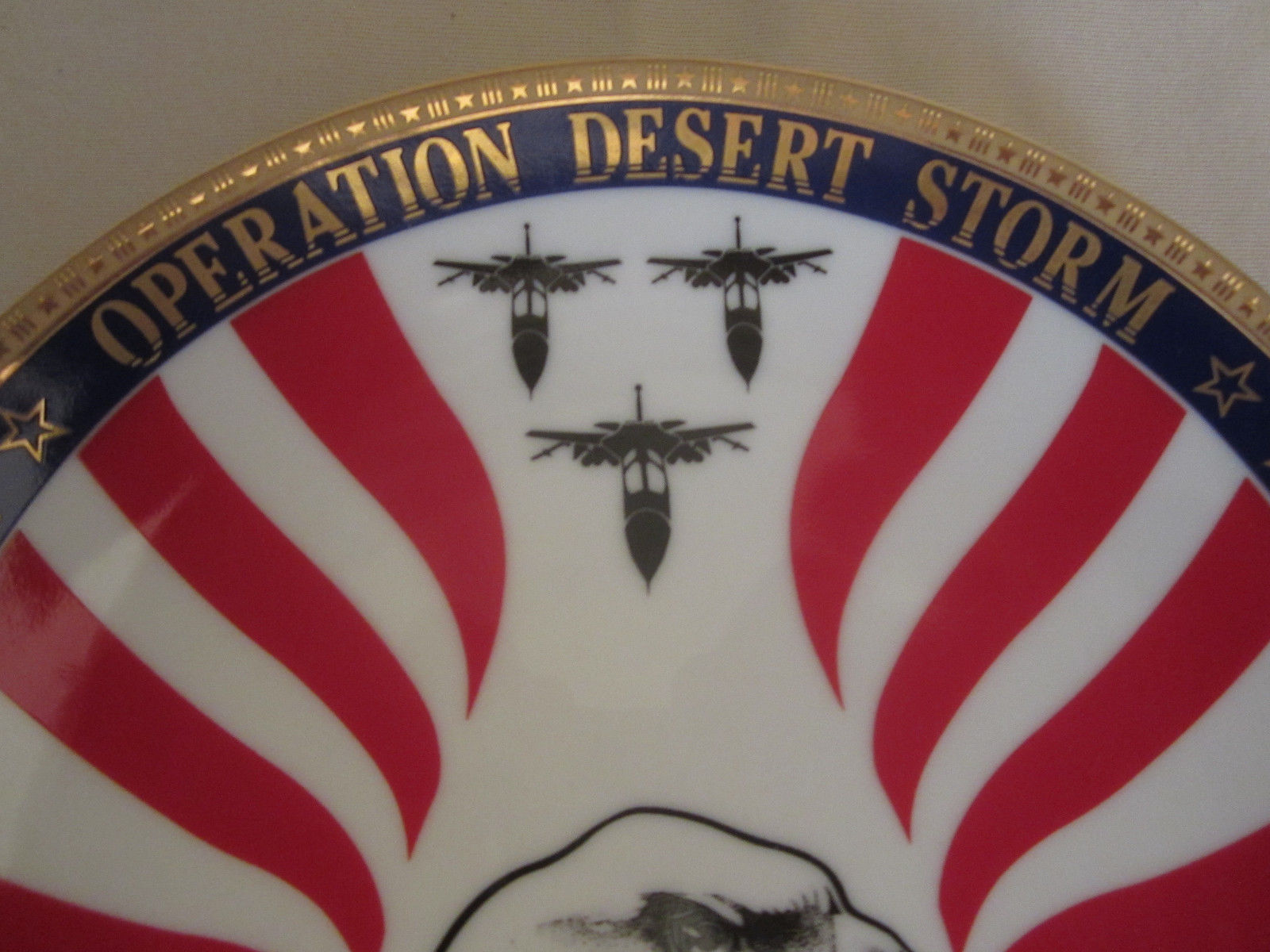 OPERATION DESERT STORM collector plate MILITARY - WAR Hamilton