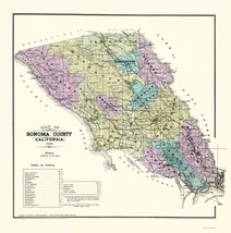 Sonoma California Landowner - Thompson 1877 - 23 x 23.17 - $36.95+
