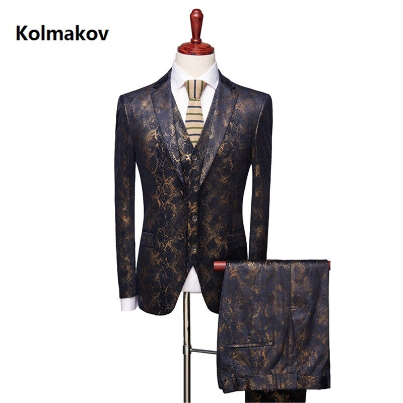 "Primary image for 2019 new arrival Men""s suit Fashion classics Slim Fit Casual wedding dress suits"