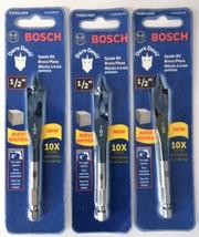 """Bosch Dare Devil Spade Stubby Drill Bit DSBS1005 1/2"""" x 4"""" (3PKS) - $3.56"""