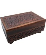 Artistic Carved Secret Wooden Puzzle Box, Polish Handmade Legs Puzzle Box - $39.59
