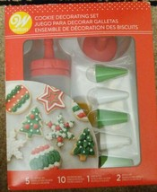 Wilton Cookie Decorating Kit for Christmas Cookies w/ 5 Decorating Tips - $7.70