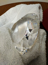 Clear Glass Heart Diamond Shaped Crystal Paperweight  image 3