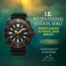 SEIKO INTERNATIONAL EDITION SAMURAI DIVER AUTOMATIC MEN WATCH SRPB55K1 - $499.00