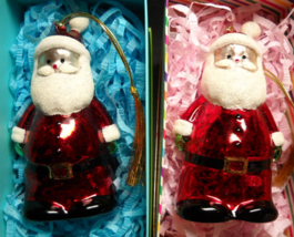 Unbranded Santa Christmas Ornament Lot Of Two Light Changing Gold Tassel... - $19.99