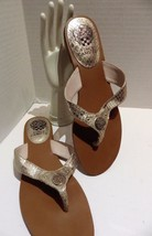 Vince Camuto Metallic Snakeskin Sandals Briston Size 8.5 - $24.74