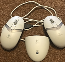Logitech C-BA4-MSE USB Mouse Receiver with Two M-RR95 Wireless Optical Mice - $674,58 MXN