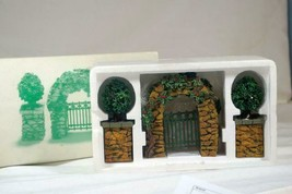 Dept 56 Stone Corner Posts With Holly Tree's And Stone Archway Accessory... - $14.39