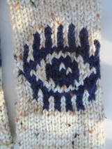 Evil Eye Gloves March for Our Lives Mitts - Aran & Navy Blue - #EnoughIs... - $487,38 MXN