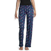 NWT Womens blue triangles Fleece Sleep lounge Pants Plaid Pajama Bottoms... - $14.10