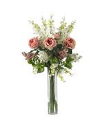 Rose, Delphinium and Lilac Silk Flower Arrangement - $166.52