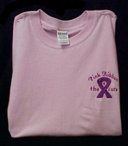 Breast Cancer T Shirt Pink Awareness Purple Ribbon 4 Cure Pink S/S XL Unisex New - $23.25