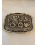 New Holland Skid Steer Loaders Pewter Belt Buckle by Spec Cast Made in USA - $14.80