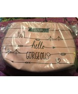 Benefit Cosmetics Hello Gorgeous Pink Makeup Dome cosmetic Travel Bag new - $8.59