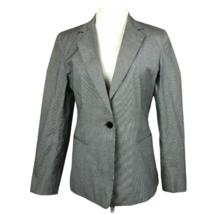 DKNY Blazer Jacket Houndstooth 8 Micro Print Black One Button Career Wor... - $34.72
