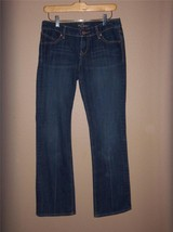 W7426 Womens OLD NAVY Medium Blue Stretch Denim The Diva BOOT CUT JEANS 2 - $12.60